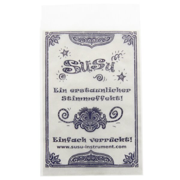Susu Papersleeve with German Instructions