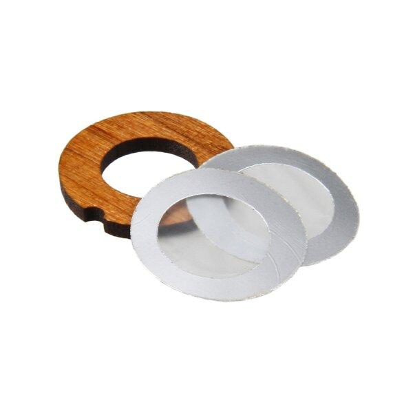 Membran-Set: 2 Membrane + 1 Holzring