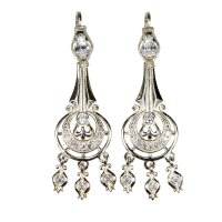 Silver Earrings Jaw Harp-Shaped