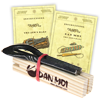 Jaw Harp Protection and Transport Wooden Block and Free Playing Instructions